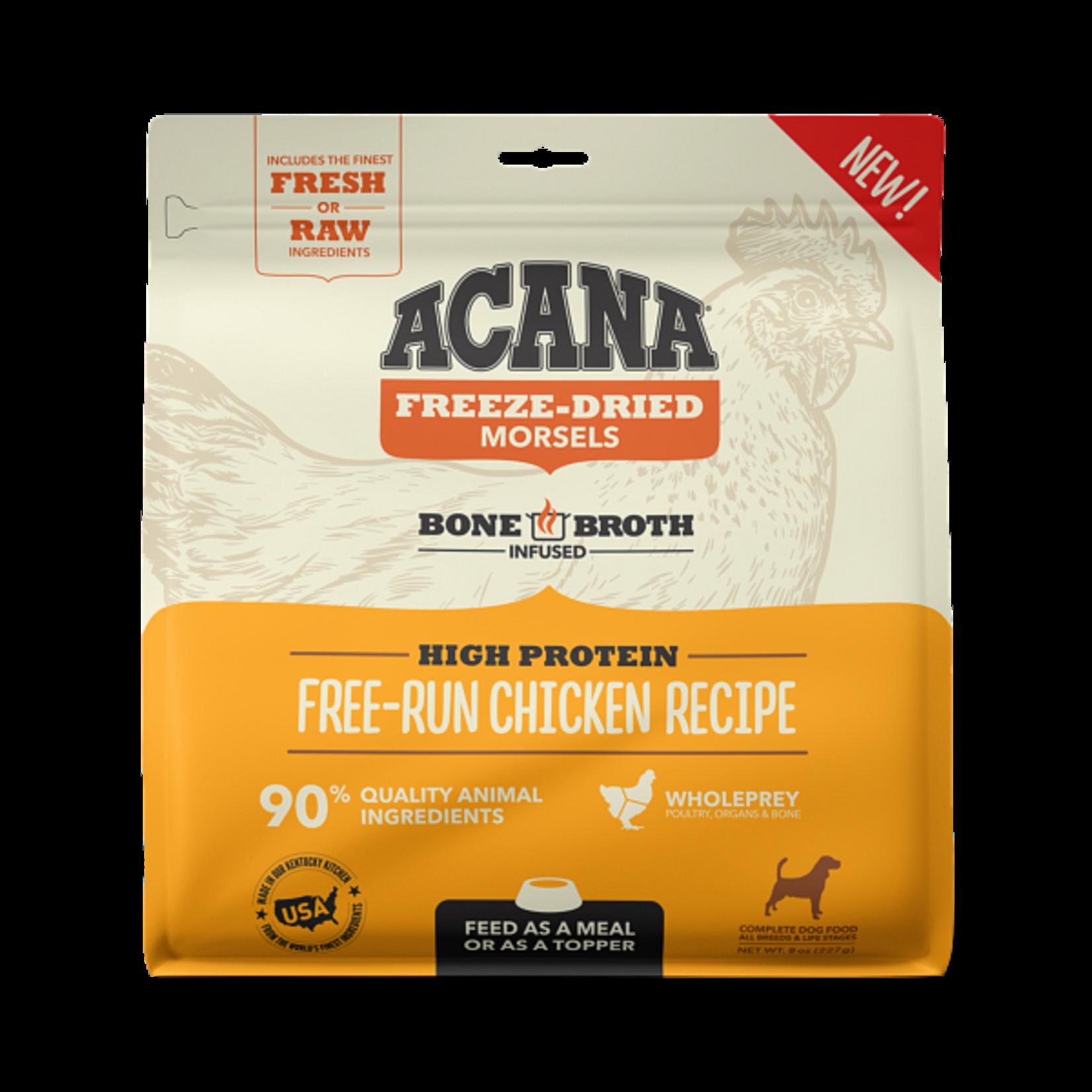 Champion Pet Foods Acana Dog Freeze-dried Free-Run Chicken Morsels 8 OZ