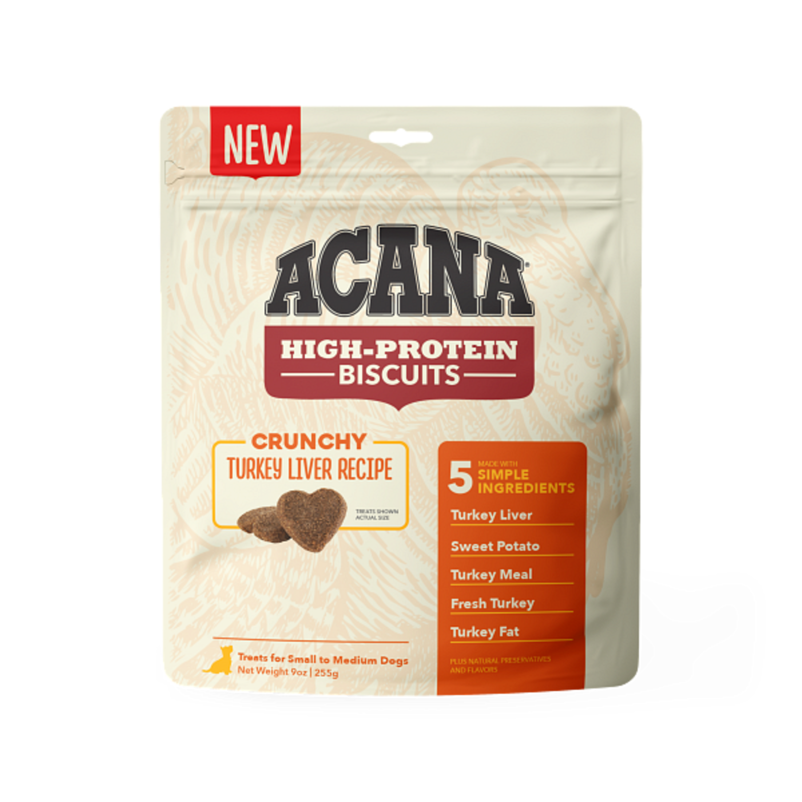 Champion Pet Foods Acana High-Protein Biscuits Turkey Liver Small 9 OZ