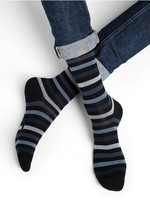 Bleuforet Men's Multicolour Striped Urban Sock