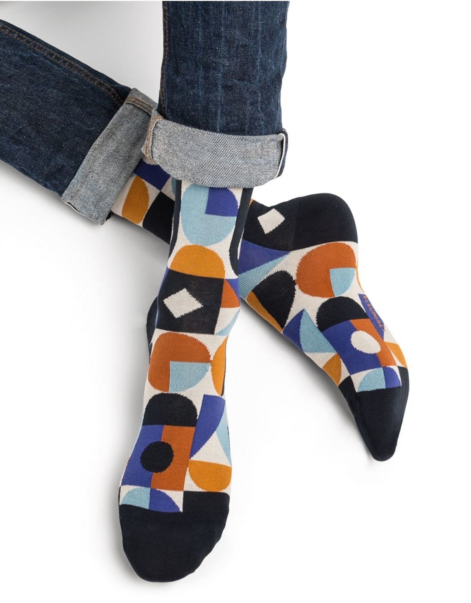 Bleuforet Men's Multi Geometric Pattern Socks