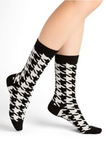 Bleuforet Cashmere Houndstooth Socks