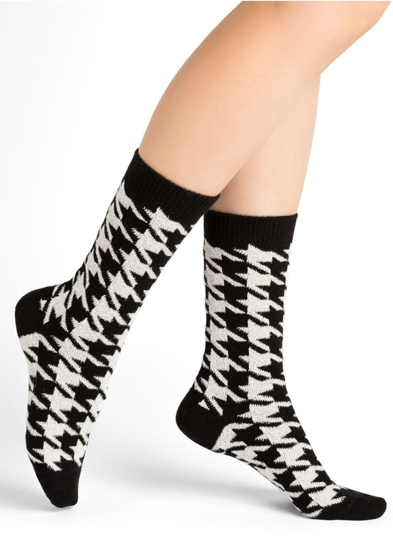 Bleuforet Houndstooth Cashmere Socks