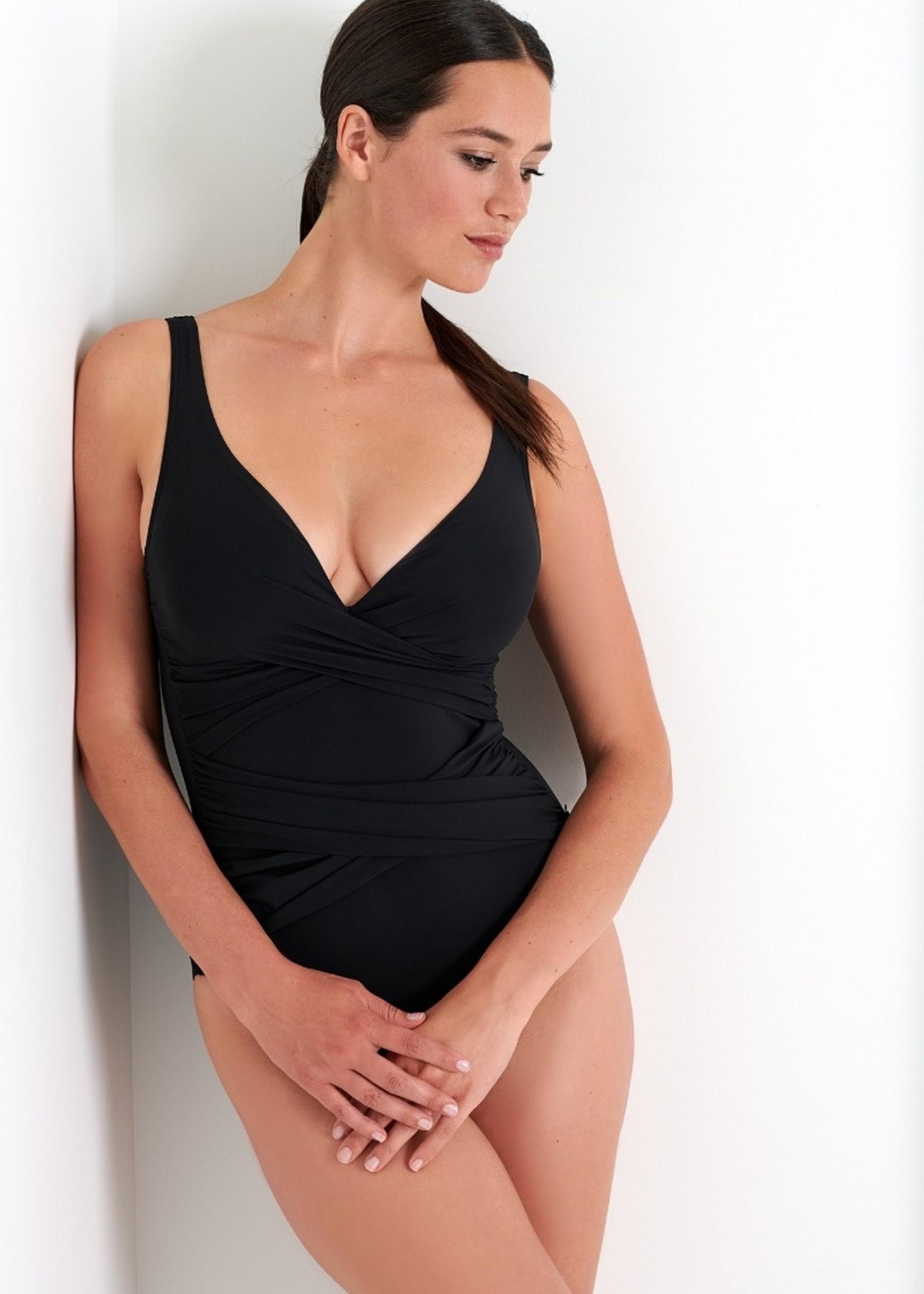 Shan Classique Wrap Swimsuit Mesh Detail