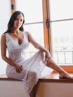 Arianne Natasha Long Lace Chemise
