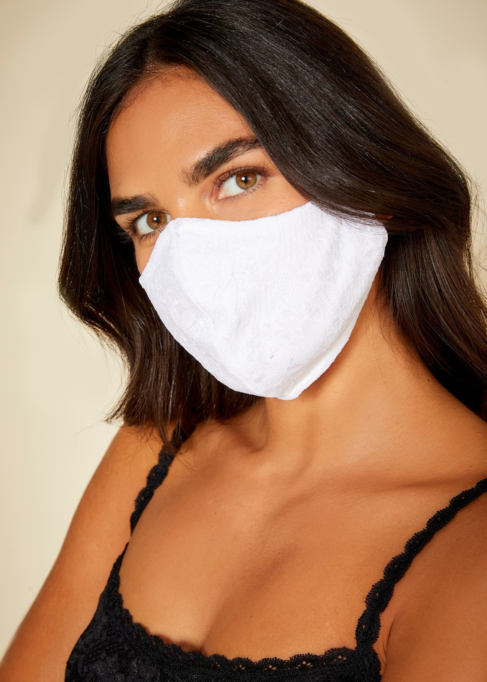 Cosabella Never Say Never V Lace Face Mask