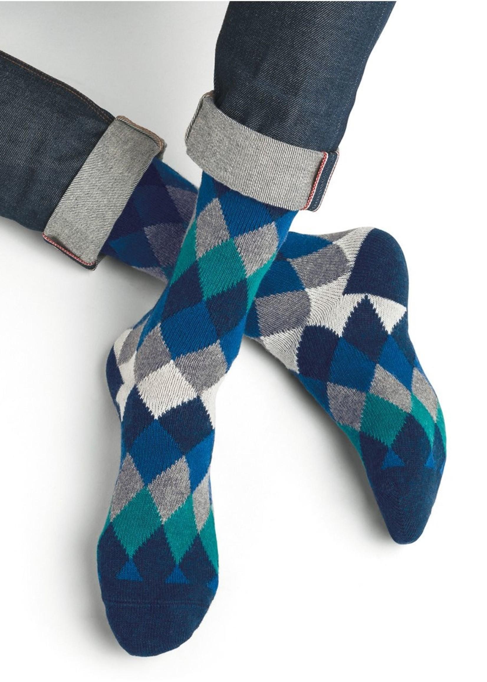 Bleuforet Men's Wool & Cashmere Argyle Socks