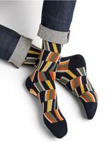 Bleuforet Men's Egyptian Cotton Patterned Socks