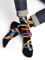 Bleuforet Men's Egyptian Cotton Ring Patterned Socks