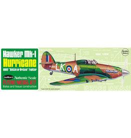 Guillow's Hawker Hurricane Balsa Kit 16 1/2 inch Wingspan