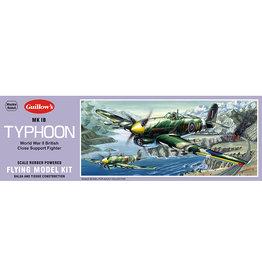 Guillow's Typhoon Mk IB Balsa Kit 18 inch Wingspan