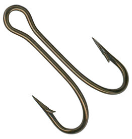 Mustad 7825-BR Double Hooks 50 Pack