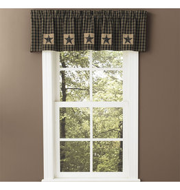 "Park Designs Sturbridge Patch Lined Valance 60""x14"" Black"