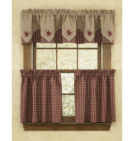 Park Designs Sturbridge Wine Curtains