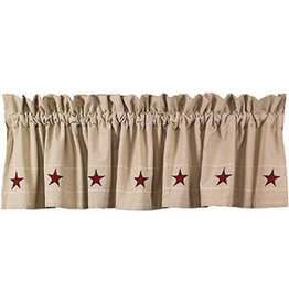 "Country House Heritage Star Valance 72"" x 14"""