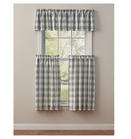 Park Designs Wicklow Check Dove Curtains