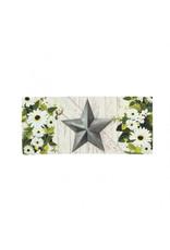 Evergreen Sassafras Switch Mat - Spring Floral Galvanized Star