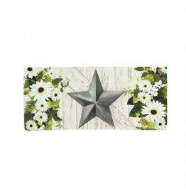 Evergreen Sassafras Switch Mat - Galvanized Star