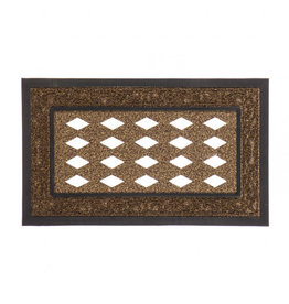 Evergreen Sassafras Brown Scroll Switch Mat Frame