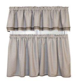 Ellis Curtain Classic Check Grey Double Valance