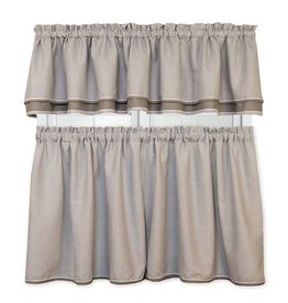 "Ellis Curtain Classic Check Grey 24"" Tiers"