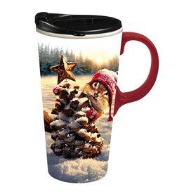 Cypress Home Travel Mug Holiday Squirrel