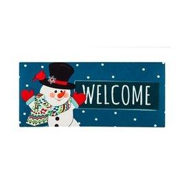 Evergreen Sassafras Insert Welcome Snowman