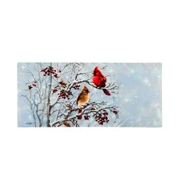 Evergreen Sassafras Insert Winter Cardinals