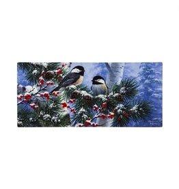 Evergreen Sassafras Insert Winter Chickadees