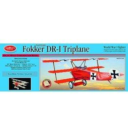 Guillow's Fokker DR-I Triplane Balsa Kit 20 in. Wingspan