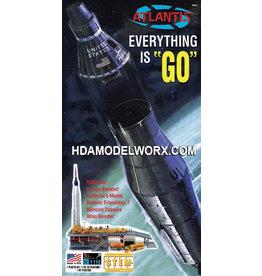 Atlantis Models Everything Is Go Mercury Capsule Atlas Rocket 1/110 Scale