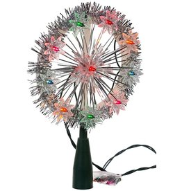 "Kurt S. Adler 5.5"" Snowflake 10 Light Tree Topper"