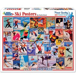 White Mountain Ski Posters 1000 pc Puzzle