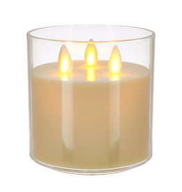 Luminara Rechargeable Tri-Wick Candle