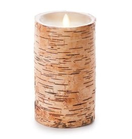 "Luminara 4"" x 7"" Embedded Birch Unscented Pillar"