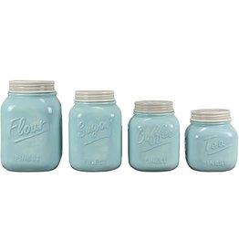 Young's Inc Blue Mason Jar Set