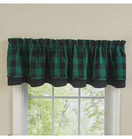 Park Designs Wicklow Check Forest Green Curtains
