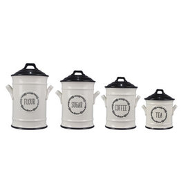 Young's Inc Ceramic 4 pc Canister Set