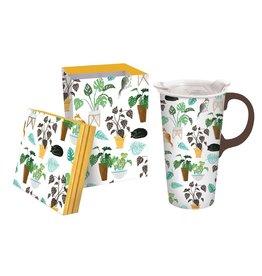 Evergreen Plant Medley Ceramic Mug