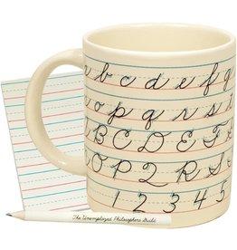 The Unemployed Philosophers Guild Cursive Writing Mug