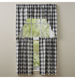 Park Designs Wicklow Check Black & Cream Curtains