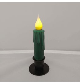"Country Candles Green 4"" Taper"