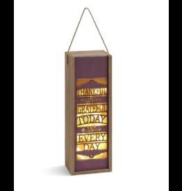 DEMDACO Thankful and Grateful Lantern & Gift Box