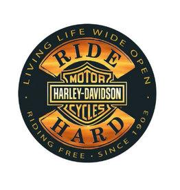 Ande Rooney Tin Sign Harley Davidson Ride Hard