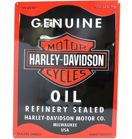 Ande Rooney Tin Sign Harley Davidson Oil Can Rectangle