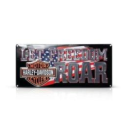 Ande Rooney Tin Sign Harley Davidson Freedom Roar