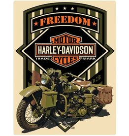 Ande Rooney Tin Sign Harley Davidson Military Green Freedom