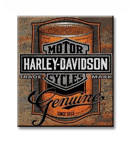 Ande Rooney Tin Sign Harley Davidson Can Label