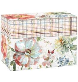 Lang Recipe Card Box Spring Meadow