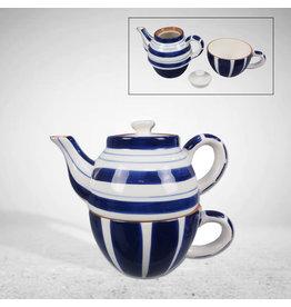 Ceramic Blue and White Tea Set