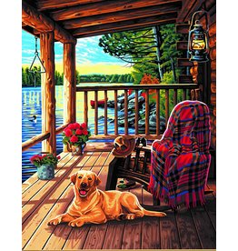 Dimensions Log Cabin Porch Paint By Number